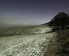 Snow, stars, fog and moonlight (Alex Bamford) Tags: longexposure moon mist snow field fog stars sussex fullmoon moonlit moonlight moonlighting alexbamford thebigbambooly wwwalexbamfordcom