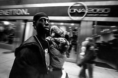 Father and Child (Life on Film) Tags: street leica city nyc 2 urban newyork film fuji manhattan voigtlander streetphotography rangefinder d76 m42 push neopan400 bigapple 15mm iso1600 heliar pushprocess leitz superwide