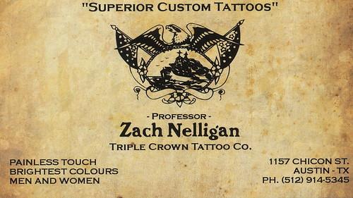 Zach Nelligan - Tattoo Artist - Business Card - a photo on Flickriver