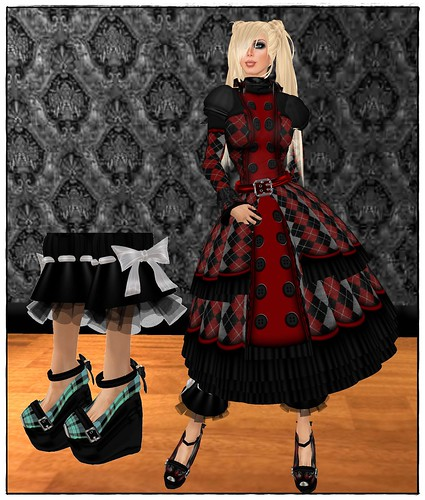 florencia blue blood tartan shoes freebie