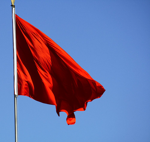 red flag by Luke Hoagland, on Flickr