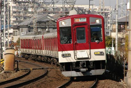 Kintetsu1400series in Masuga〜Yamato-Yagi,Kashihara,Nara,Japan 2009/2/07