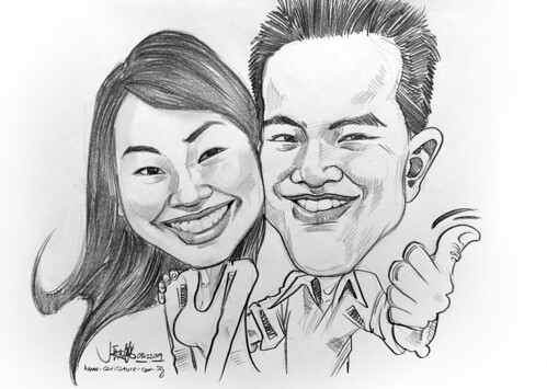 Couple caricature s in pencil 030209