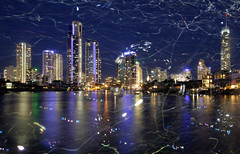 Bubbillumination (the_tulku) Tags: light reflection canal streak bubbles highrise bubble surfersparadise goldcoast q1 circleoncavill