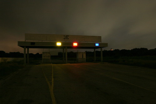 (not at sunrise) The old Mission Drive-In, while it still had hope. by Justin Parr