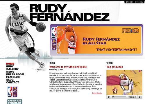 Web Oficial Rudy Fernández