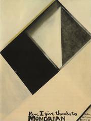 Here I give thanks to Mondrian, Colin McCahon, 1961 (Rufus.Knight) Tags: newzealand art 1961 thebigpicture tvnz pietmondrian godwit aucklandartgallery colinmccahon toiotamaki hamishkeith