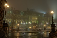 Fog Series: the Prime Minister's Office in Fog (Geekstalt) Tags: travel canada fog architecture ottawa parliament primeminister eastblock wellingtonstreet langevinblock