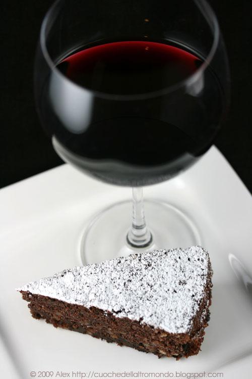 Torta al vino e cioccolato