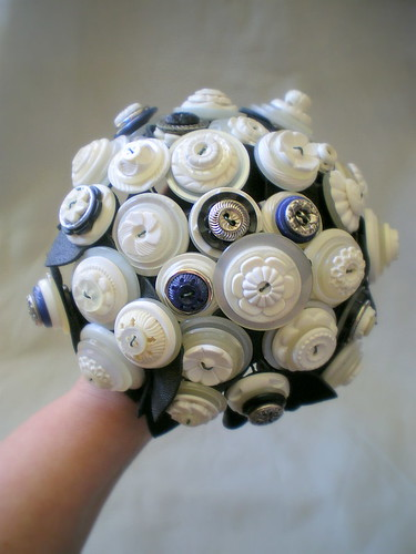 buttons in black royal blue silver and white and reclaimed leather