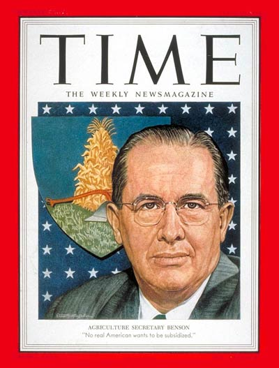 Ezra Taft Benson - Time Cover