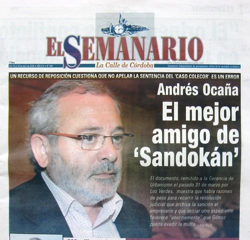 El Caso Colecor, Portada del Semanario La Calle de 18 de abril del 2009.