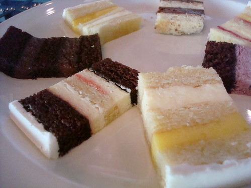 Tray of cakes from the tasting