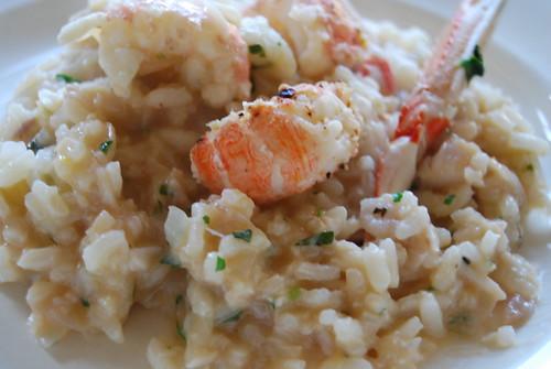risotto met langoustines en vis