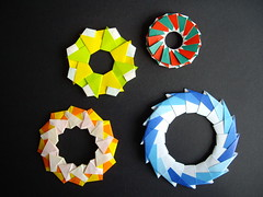 rings (Dasssa) Tags: star origami ring modular tomokofuse