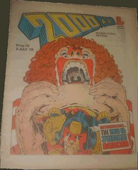 2000AD Prog 72: 'The 100 pound Judge burger' art by Mike McMahon (flickr)
