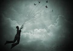 277:365 (lisaluonoceanave) Tags: me nature girl birds clouds photoshop flying 365 photomanip