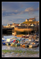 Evening light, Findochty Harbour (mcmax6) Tags: summer church landscape coast scotland sailing fujifilm 2009 hdr findochty bej moraycoast platinumphoto s5pro derekbrown