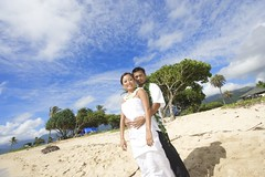 Kualoa Beach Park Wedding (sarah.m.c.) Tags: wedding hawaii kualoabeach