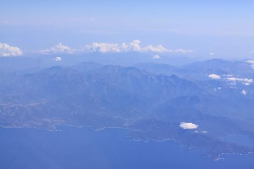 Corsica (or was it Sardinia?) below...