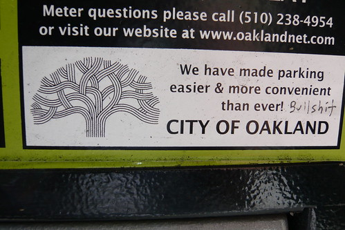 Funny Oakland Graffiti on Parking Machine