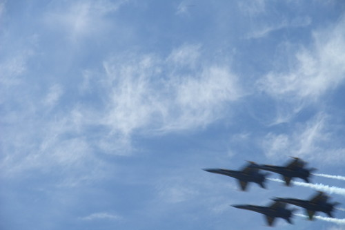 airshow from the park
