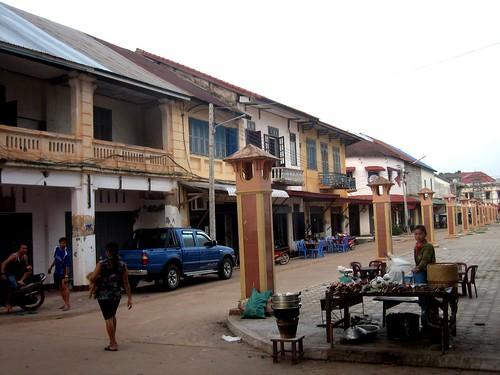 Colonial Street in Thakhek