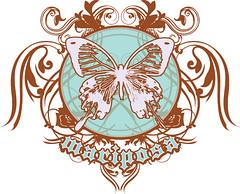Mariposa Crest (W70) Tags: flowers blue art illustration butterfly logo freedom design marketing graphicdesign artist power mark royal crest identity copper balance flowing mariposa brand regal flourish w70 professionalartist shanejwiggins wseventy shanewiggins