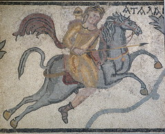Atlanta hunting a lion (Thorskegga) Tags: city atlanta museum turkey greek design ancient pattern roman mosaic hunting classical british turkish hunt halicarnassus decoraration