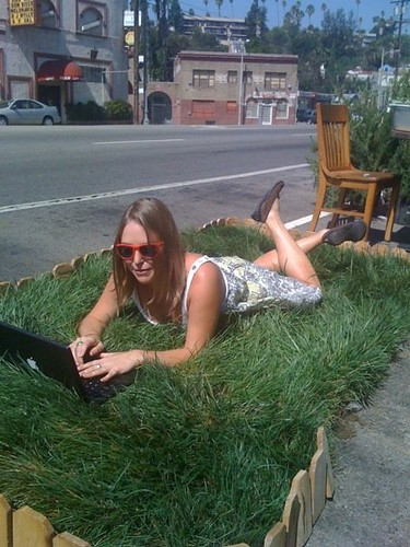 AN Contributor Alissa Walker enjoys the pocket pasture at Silverlake restaurant Local