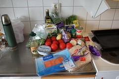 Före - soppa med fänål och tomat samt laxwrap