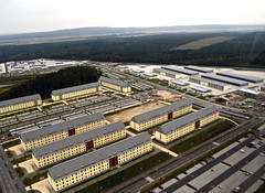 Construction nears completion on Grafenwoehr barracks (USACE Europe District) Tags: aerial ebg usarmycorpsofengineers grafenwoehr grafenwohr militaryconstruction milcon europedistrict efficientbasinggrafenwoehr