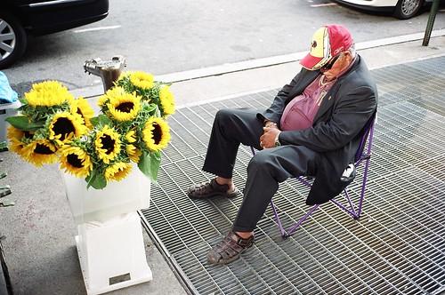 Flower Vendor Sleeping