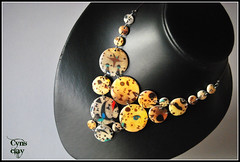 (Cynthia Gordillo) Tags: color painting design necklace arte handmade ooak wear ring jewellery fimo clay mano collar transfer diseo choker pintura memoria unica kato artesania cernit acero hecho pieza joya bisuteria polymer unico circulos gargantilla transferencia artesano premo exclusivo hechoamano arcilla anilla artesana polimerica
