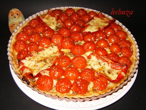 Tarta de cherries-hecha