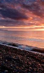 Coast (Izzy Standbridge) Tags: sunset sea sky beach wales pebbles ceredigion bej panasonicg1