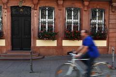 Goethe House (Elios.k) Tags: flowers house motion bicycle germany movement frankfurt riding goethehouse
