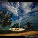 Parked boat, Sarteneja, Belize