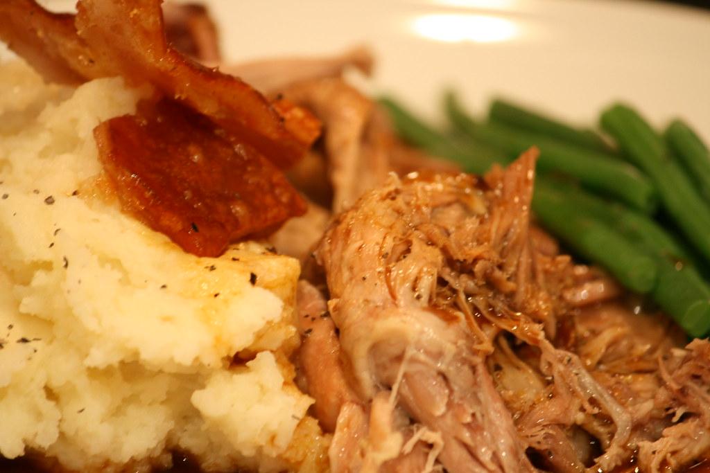 Slow roasted shoulder of pork