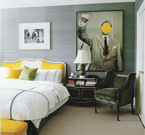 Grey Wall + Yellow = ♥