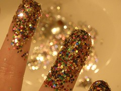 All That Glitters Isn't Necessarily Gold (inspire*dream*create*) Tags: water glitter hand sink fingers sparkle