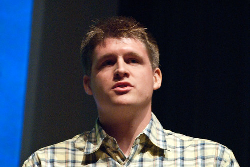 Photo of me at LessConf