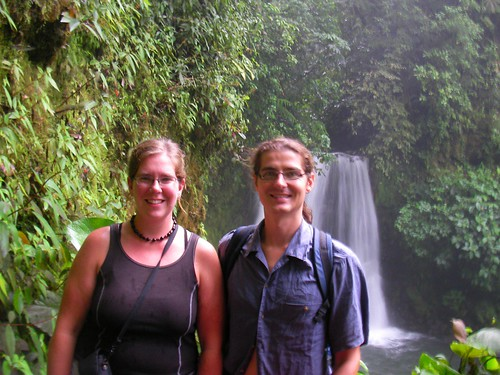 Steven and Darusha at Waterfall