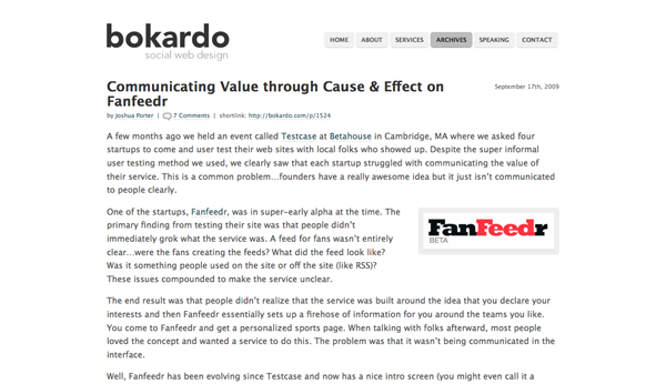 Communicating Value through Cause & Effect on Fanfeedr - Bokardo_1256786894952