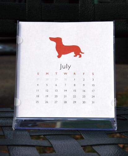 2010 Dog Silhouette Calendar