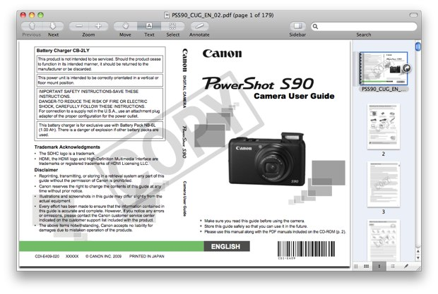 Canon S90 Manual