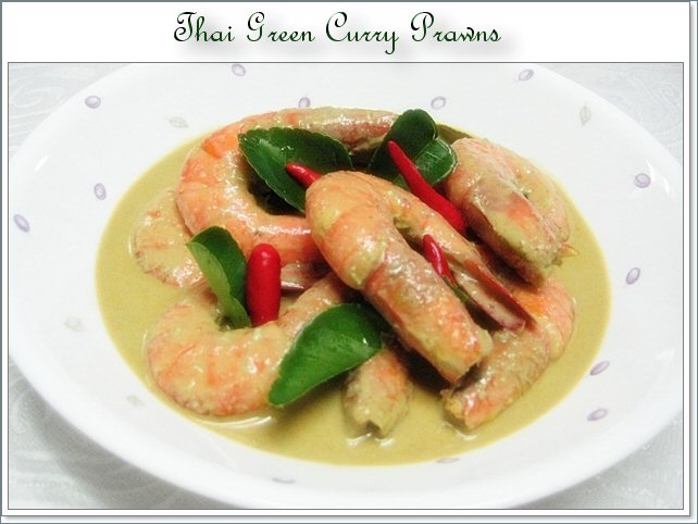 Thai  Green Curry Prawns