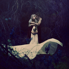 hiding fragments of the future (brookeshaden) Tags: flowers forest death woods control surreal ethereal desaturated bridal vibrancy darkfairytale brookeshaden