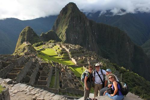 Posing at Machu Picchu