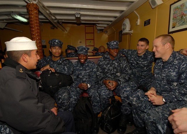 USS Thach sailors visited the Chilean navy recruit training facility